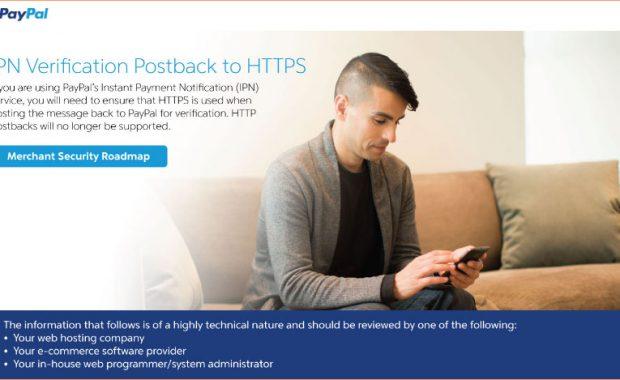 PayPal IPN SSL Message