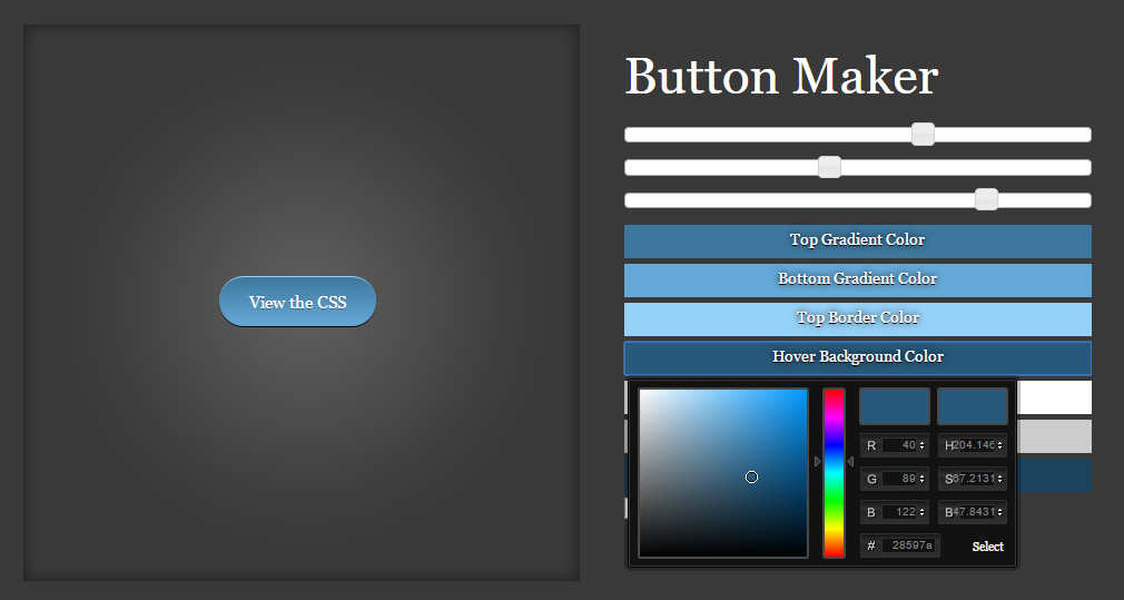 CSS Button Maker Tool