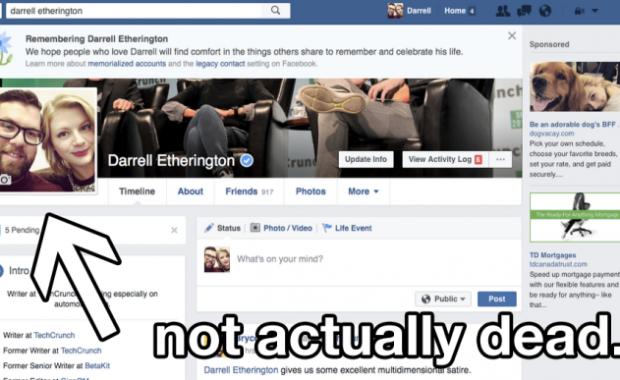 Tech Crunch FB Profile