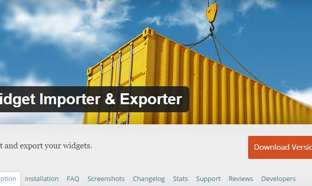 WordPress Widget Importer
