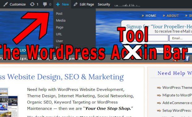 WordPress Tool Bar
