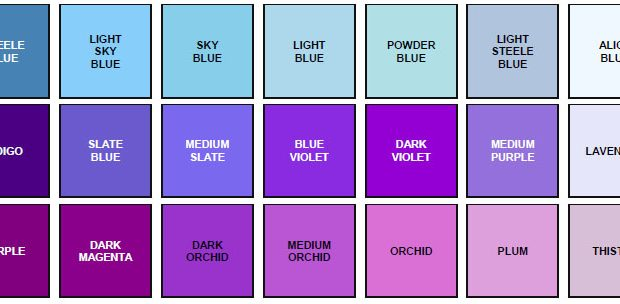 HTML Hex RGB Color Codes