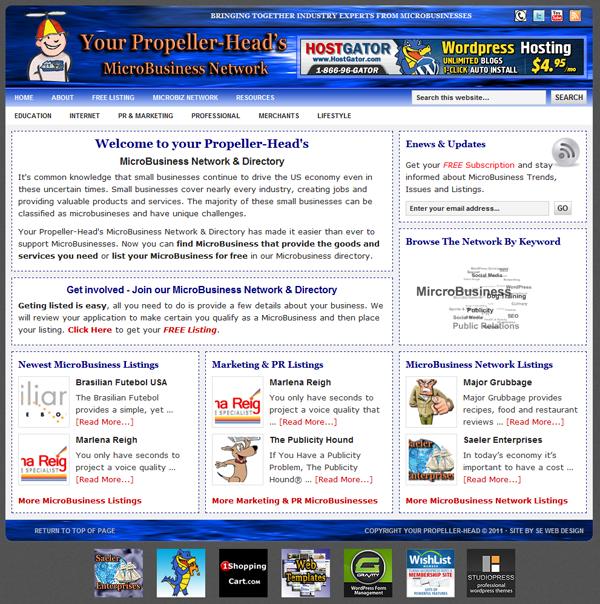 Microbiz WordPress Site